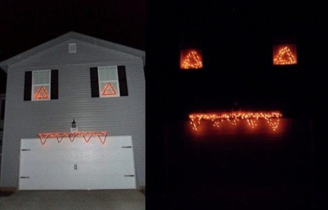 """Cách treo đèn """"dọa ma"""" hàng xóm của bạn!(Ảnh: Viral Nova)"""