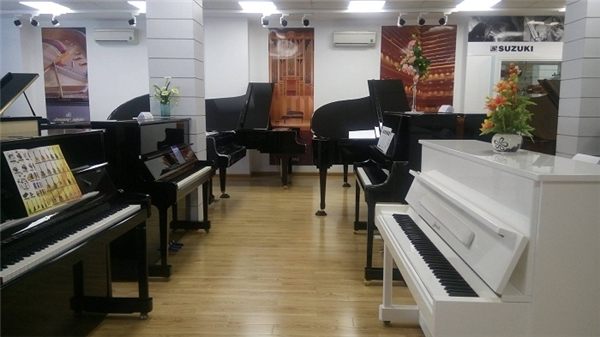 Mãn nhãn trước showroom nhạc cụ lớn nhất Việt Nam