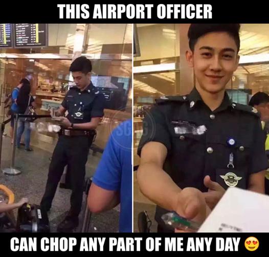 """Chỉ với một bức ảnh chụp lén, anh chàng nhân viên an ninh sân bay ngay lập tức """"đốn tim"""" cư dân mạng."""