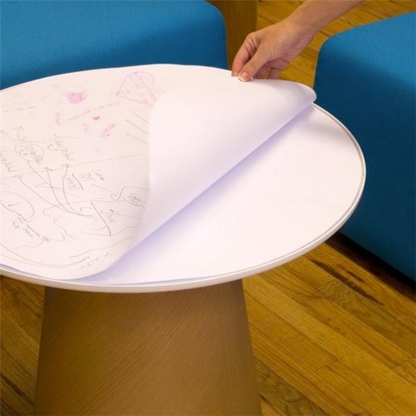 Bàn giấy: Chiếc bàn này thích hợp cho những cuộc họp nhóm, bạn dễ dàng vạch ra chiến lược hay kế hoạch cho công việc của mình ngay trên mặt bàn.