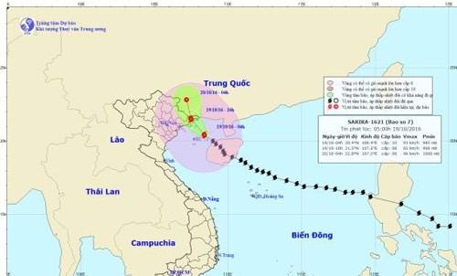 Cảnh báo trong ngày và đêm naysẽ xuất hiện mưa vừa, mưa to trên khu vực các tỉnh phía Đông Bắc Bộ, riêng Hải Phòng, Quảng Ninh, Lạng Sơn: 150-250mm/cả đợt.