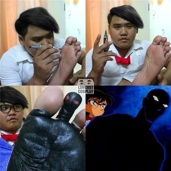 Chân dung Conan và bóng đen tội phạm thần thánh.