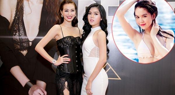 """Lê Ngọc Trinh (đầm trắng) bắt đầu được chú ý khi tham gia diễn xuất trong MV """"Be Strong"""" của Khánh My - Tin sao Viet - Tin tuc sao Viet - Scandal sao Viet - Tin tuc cua Sao - Tin cua Sao"""