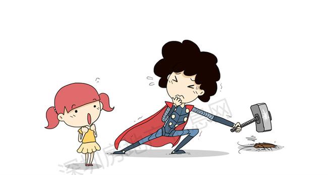 Mẹ mạnh mẽ giống như Thor và sẽ tiêu diệt mọi thứ làm con sợ, dù mẹ còn sợ hơn cả con.