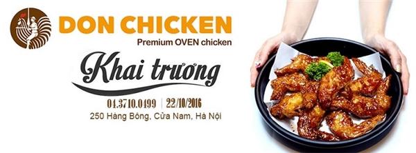 Donchicken Hà Nội chính thức khai trương 22/10/2016.