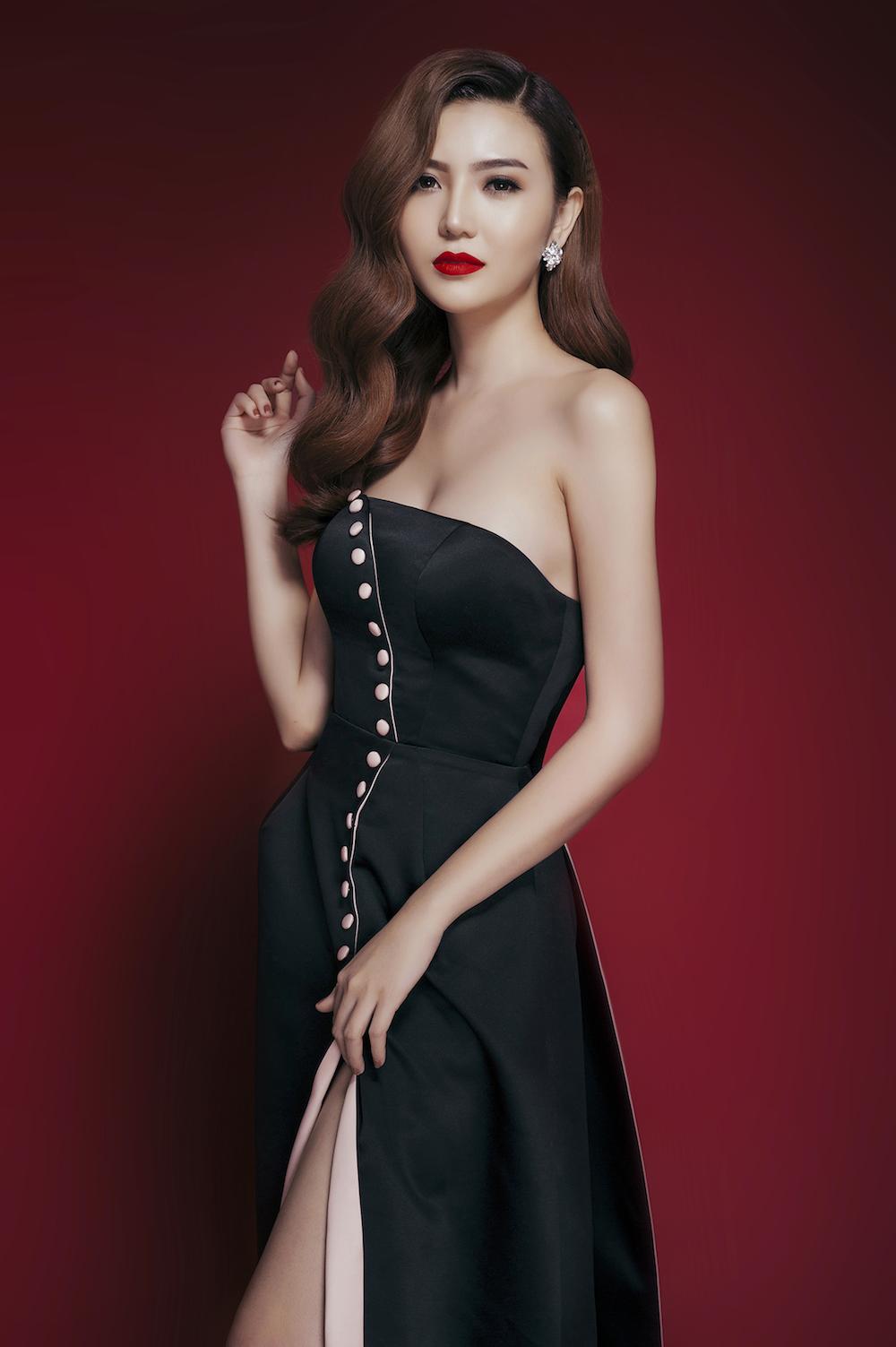 Trang phục dạ hội của Ngọc Duyên tại Miss Global Beauty Queen