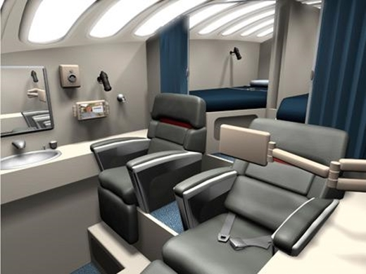 Các phi công cũng có nơi nghỉ ngơi.
