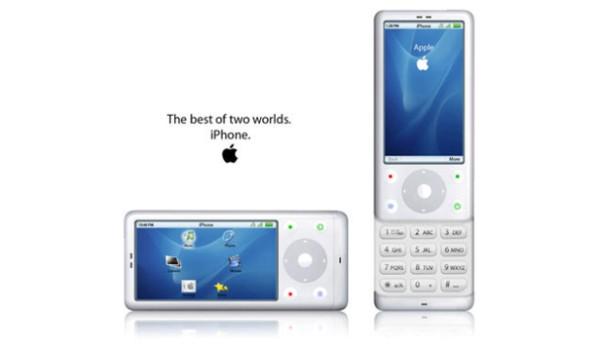 Dạng vuông bo tròn cạnh, kết hợp bàn phím vật lý thông thường ẩn dưới màn hình trượt có các nút chức năng dạng bánh xe tương tự như iPod. (Ảnh: internet)