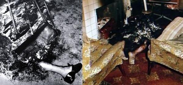 Trong các trường hợp ghi lại, cơ thể bị cháy đen nhưng đồ đạc vẫn còn nguyên vẹn.