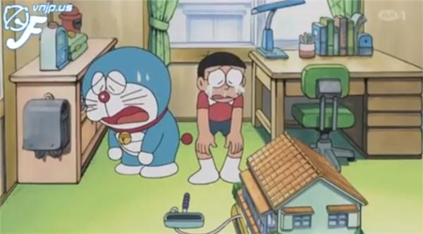 Mỗi lần Nobita dùng sai bảo bối, Doraemon chỉ muốn khóc thét.