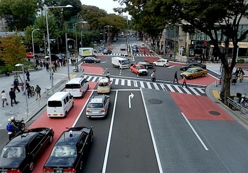Nhật Bản có giao thông theo bên trái. (Ảnh: internet)