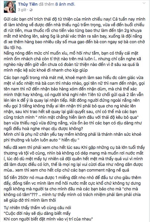 """Nguyên văn lời chia sẻ của Thuỷ Tiên trang trang fanpage trước những lời bình luận thiếu tích cực từ những """"anh hùng bàn phím"""". - Tin sao Viet - Tin tuc sao Viet - Scandal sao Viet - Tin tuc cua Sao - Tin cua Sao"""
