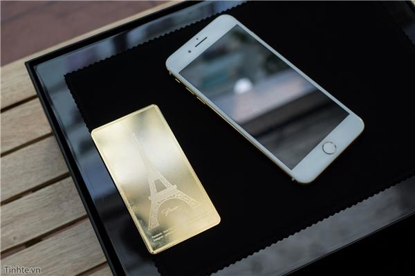 Chiếc iPhone 7 Plus được mạ vàng là phiên bản màu vàng hồng. (Ảnh: tinhte)