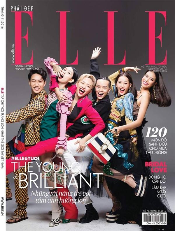 Trên 2 bìa tạp chí thời trang danh giá, Hồ Ngọc Hà và Phạm Hương cùng diện bộ váy xuyên thấu táo bạo của Gucci. Hình thể mỏng manh của hai mĩ nhân hàng đầu Vbiz giúp họ tỏa sáng với thiết kế hàng hiệu đắt đỏ.