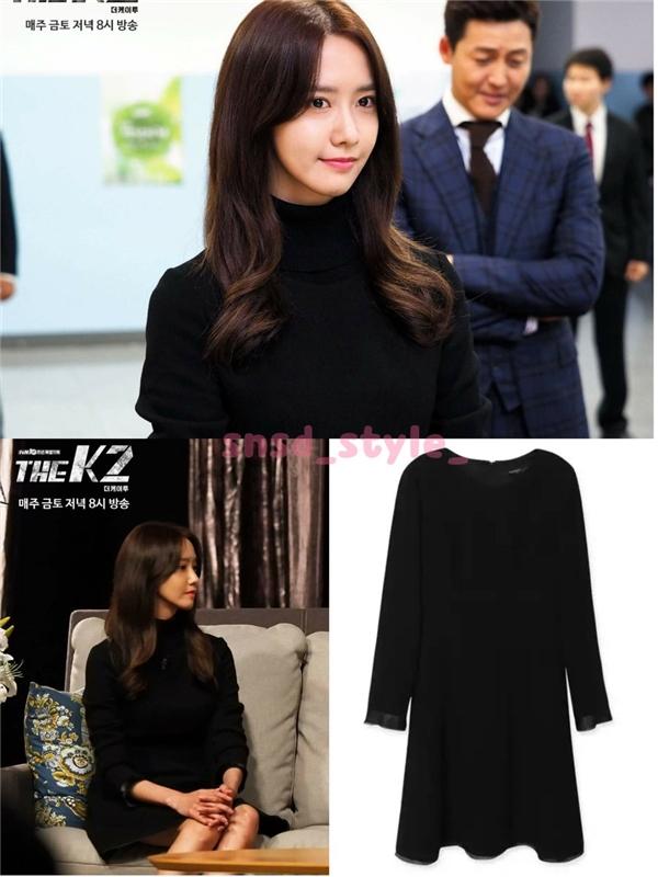 Chiếc đầm len dài đơn giản nhưng tôn lên làn da trắng mịn là sản phẩm của thương hiệu Jill Stuart trị giá 460 nghìn won (tương đương 9,2 triệu đồng đồng).