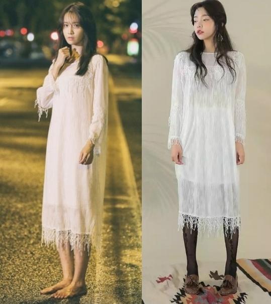 """Khi phim vừa lên sóng, Yoona từng """"gây sốt"""" với chiếc đầm ngủ màu trắng có giá chỉ khoảng 90 đô la Mĩ (tương đương 2 triệu đồng). Đây cũng là trang phục giúp cô nàng ngay lập tức lọt vào """"mắt xanh"""" của nhà thiết kế nổi tiếng và trở thành """"thiên thần Barcelona"""" được mọi người biết đến."""