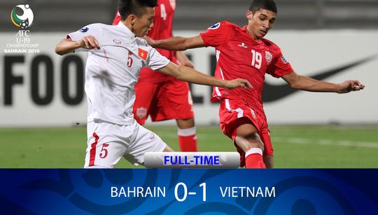 Và rồi ở phút 72, người hâm mộ bóng đá vỡ òa khiTrần Thành có pha đệm lòng tung lưới U19 Bahrain mở tỉsố cho U19 Việt Nam.