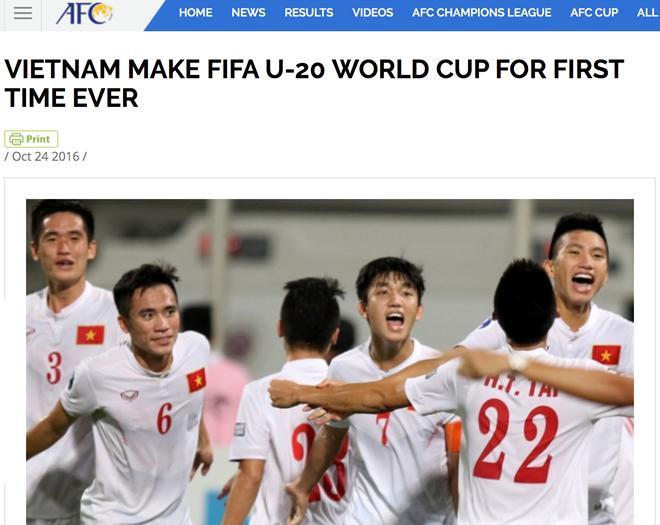 Liên đoàn bóng đá châu Á (AFC) cũng chúc mừng tuyển U19.