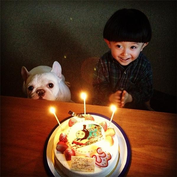 Tasuku là cậu nhóc 5 tuổi và Muu là chú chó thuộc giống French bulldog, cả hai đang sống cùng bố mẹ tại Tokyo, Nhật Bản.