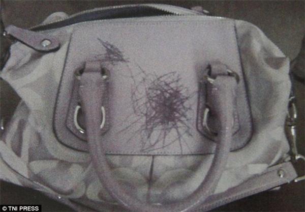 Nếu mà chiếc túi này là hàng hiệu thì bạn cũng phải phát điên lên. Nhưng trách ai bây giờ khi chính bạn để viết và túi trong tầm tay con trẻ. (Ảnh: Internet)