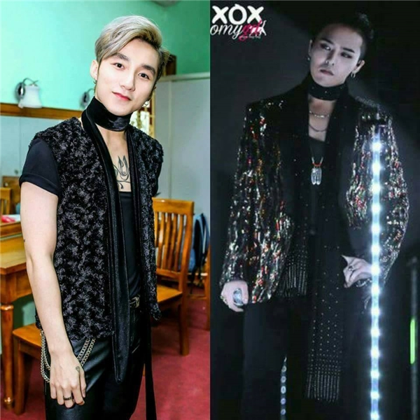 Bộ trang phục của nam ca sĩ cũng bị cho là phiên bản lỗi của G-Dragon.