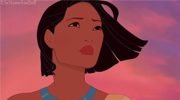 Pocahontas càng độc lập và mạnh mẽ với mái tóc ngang.(Ảnh: The Nameless Doll)