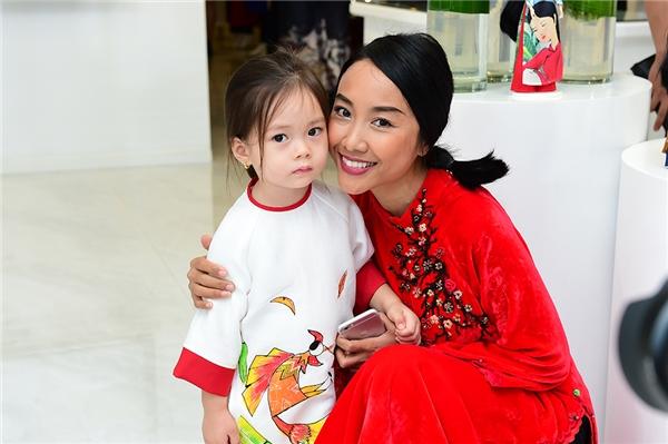 Đoan Trang và con gái