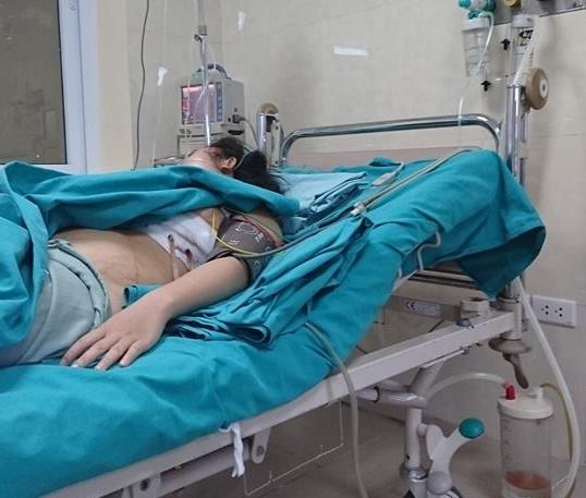 Chị P sau khi phẫu thuật đã thoát khỏi tình trạng nguy hiểm.