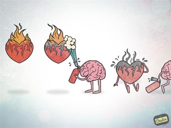 Lý trí chính là thứ dập tắt tình cảm. Chính vì thế đứng trước chuyện tình cảm, thứ duy nhất ta cần vượt qua chính là lý trí.