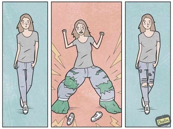 Quần jeans rách được tạo ra như thế nào?
