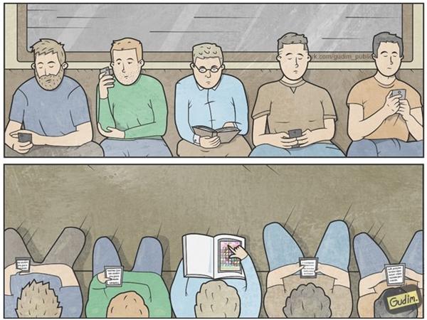 Câu châm ngôn cho thời đại smartphone: Đừng đánh giá một người qua chiếc smartphone họ cầm, hãy đánh giá họ qua những thứ họ đang xem trên đó.