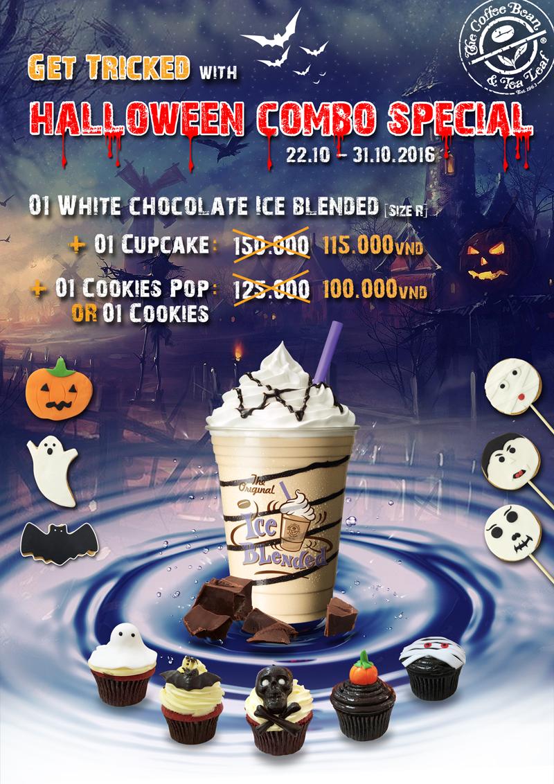 Bạn chọn Combo 1: 1 ly white chocolate ice blended + 1 cupcake (giá 115k, tiết kiệm 35k) hoặcCombo 2: 1 ly white chocolate ice blended + 1 cookie pop hay cookie tùy thích (giá 100k, tiết kiệm 25k)?