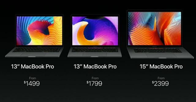 Giá bánMacBook Pro 2016. (Ảnh: internet)