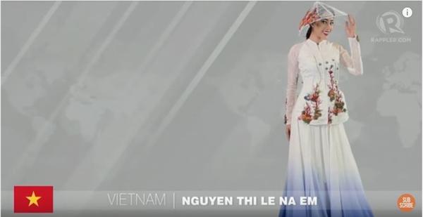 Hình ảnh Nam Em trong clip giới thiệu của Hoa hậu Trái đất 2016.
