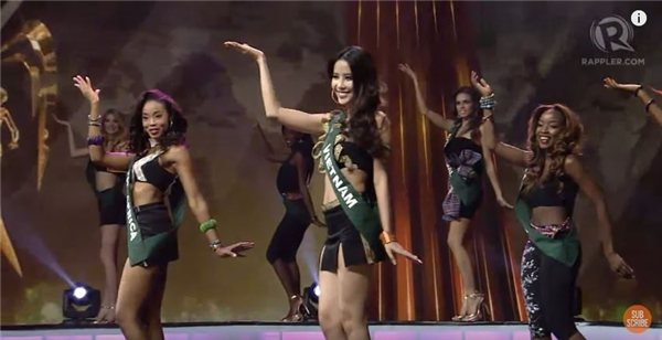 Sau đó, top 16 thí sinh xuất sắc tiếp túc bước vào vòng trong được công bố, và đại diện Việt Nam chính thức được gọi tên. 15 cô gái còn lại gồm: Colombia, Nam Phi, Northern Iceland, Norway, Venezuela, Anh, Brazil, Nga, Mexico, Macau, Ecuador, Australia, Sweden, Mỹ, Ý.