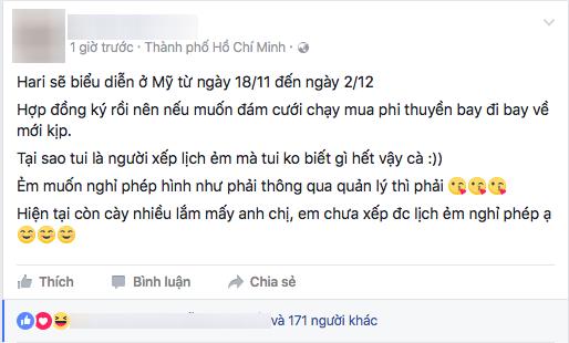 Quản lí của Hari Won trực tiếp lên tiếng phủ nhận thông tin đám cưới vì ngày 25/11 - Tin sao Viet - Tin tuc sao Viet - Scandal sao Viet - Tin tuc cua Sao - Tin cua Sao