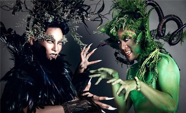 Mặc dù không phải là những người mẫu chuyên nghiệp nhưng hai người vẫn chuyển tải khá tốt ý tưởng của bộ ảnh và cho ra tác phẩm ấn tượng nhân dịp Halloween sắp tới. - Tin sao Viet - Tin tuc sao Viet - Scandal sao Viet - Tin tuc cua Sao - Tin cua Sao