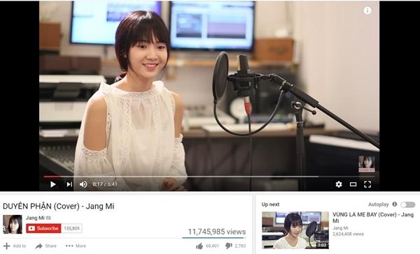 Duyên phận của Jang Mi đã đạthơn 11 triệu lượt xem.