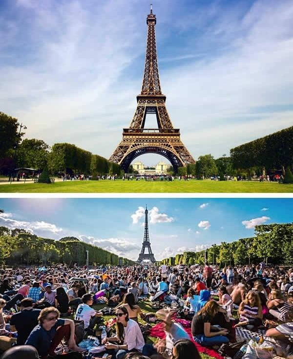 Một ngày bình thường ở tháp Eiffel, Paris. (Ảnh: 9GAG)
