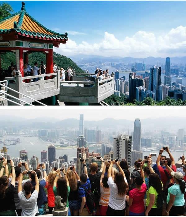 """Cùng lên Núi Thái Bình ở Hong Kong và 1, 2, 3... """"cho tôi thấy đôi tay của các bạn trên không trung nào"""". (Ảnh: 9GAG)"""