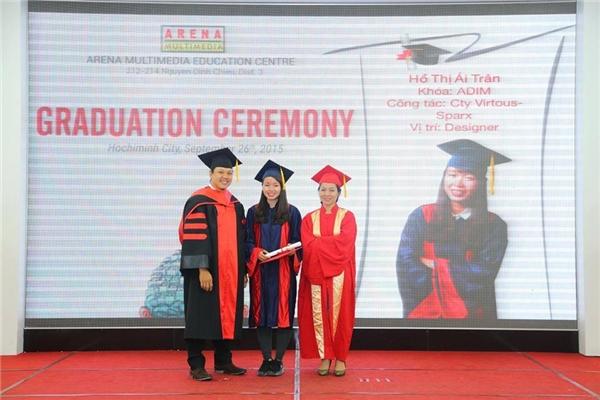 Tính đến nay, Ái Trân đã tốt nghiệp được 1 năm nhưng đã có 2 năm kinh nghiệm trong nghề.