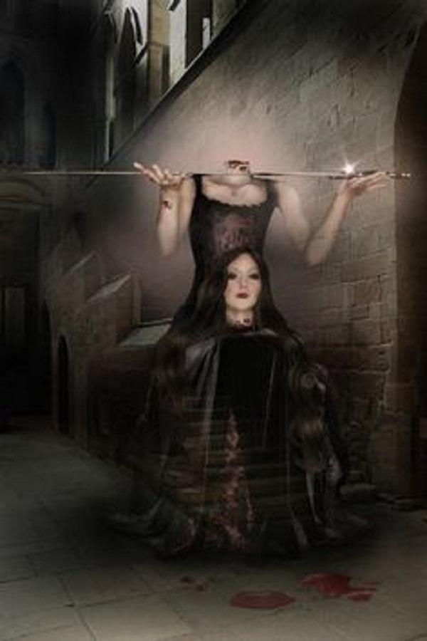 Hình minh họa hồn ma oan ức của bà lang thang trong tháp London.(Ảnh: Internet)