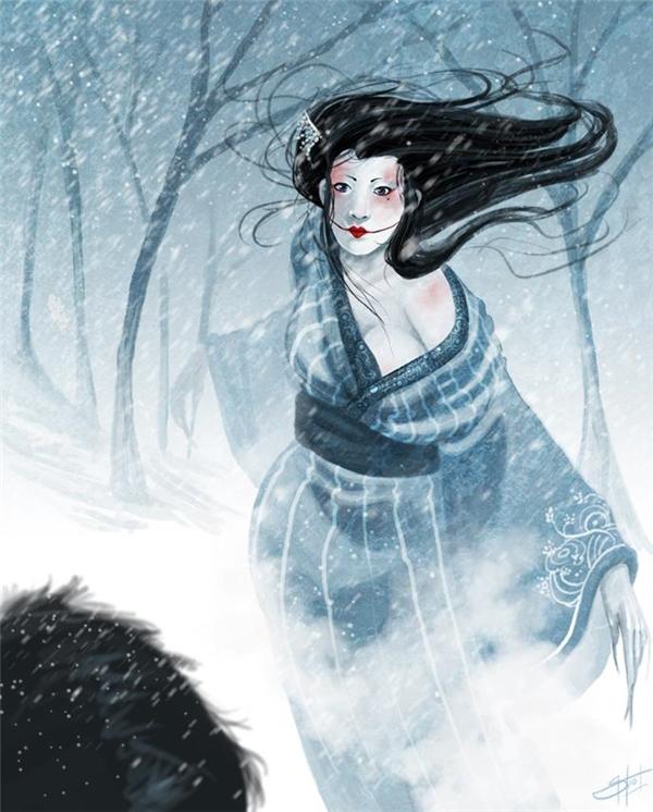 Băng nữ được khắc họa sở hữu một sắc đẹp không tưởng với đôi mắt mê hồn cùng làn da trắng trẻo không tì vết.