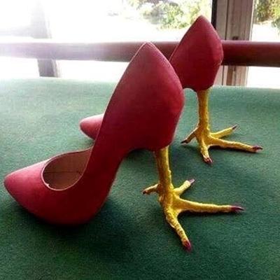 Hay đơn giản đôi giày đội lốt dưới mẫu đôi chân gà trống.