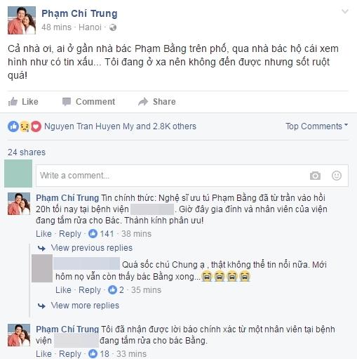 Nghệ sĩ ưu tú Phạm Bằng qua đời ở tuổi 85 - Tin sao Viet - Tin tuc sao Viet - Scandal sao Viet - Tin tuc cua Sao - Tin cua Sao