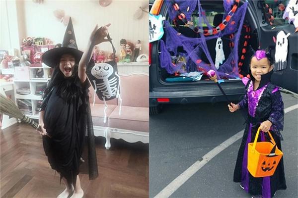 Cùng chọn nhân vật thùy phủ vào lễ Halloween, con gái Trương Ngọc Ánh (trái) và cô công chúa nhà danh hài Việt Hương đều rất xinh xắn. - Tin sao Viet - Tin tuc sao Viet - Scandal sao Viet - Tin tuc cua Sao - Tin cua Sao
