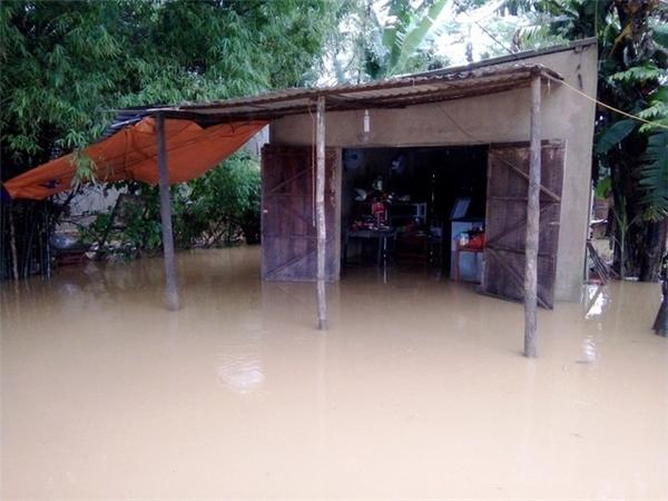 Nhiều nhà của hộ dân đã bị ngập.