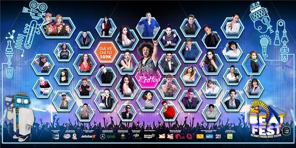 Sân khấu hoành tráng, 80 nghệ sĩ hot trong nước cùng Redfoo có đủ thuyết phục bạn đặt lịch hẹn hò với YAN Beatfest 2016 không? Mau chóng rinh vé tại đây nhé.