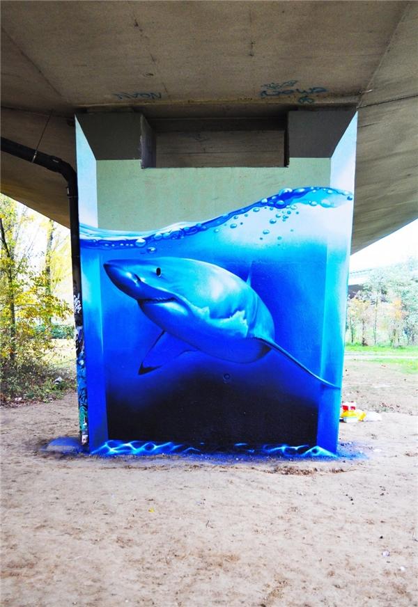 Hồ cá 3D tại Los Angeles. (Ảnh: Internet)