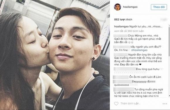 Cư dân mạng tỏ ra thích thú và để lại nhiều lời chúc tốt đẹp cho cặp đôi mới của showbiz Việt. - Tin sao Viet - Tin tuc sao Viet - Scandal sao Viet - Tin tuc cua Sao - Tin cua Sao